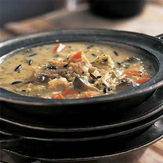 Roasted Chicken with Wild Rice Soup