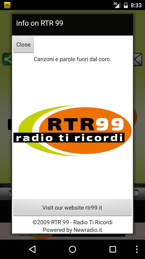 RTR 99 – Radio Ti Ricordi - screenshot