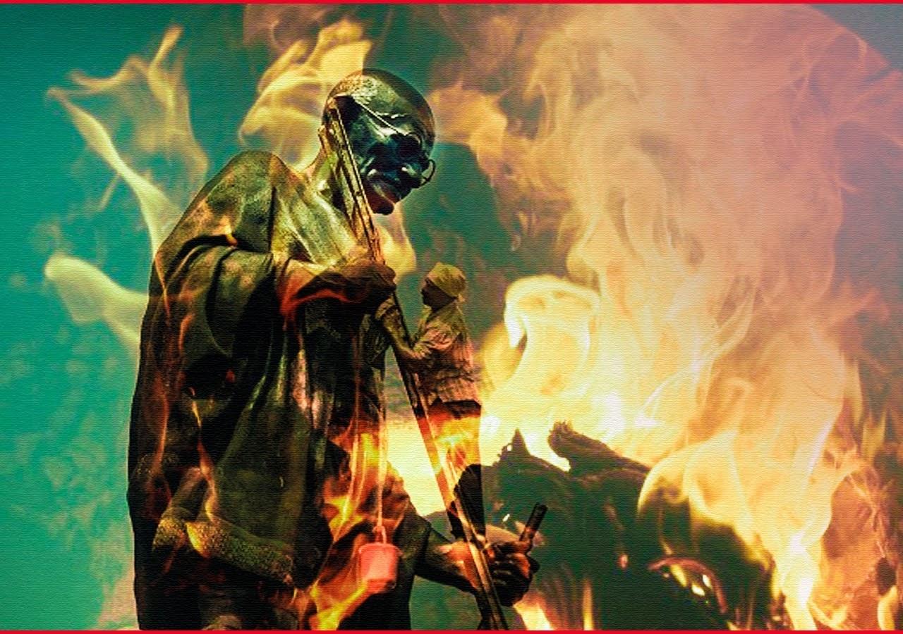 Mahatma Gandhi's Statue Set On Fire in Yerevan.