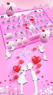Pink Love Kiss Keyboard Theme 2