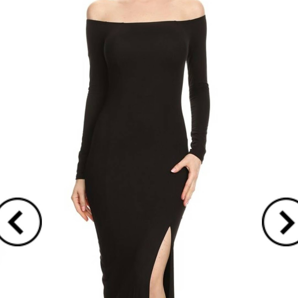 Beautiful of the shoulder black dress just arrived! A must have for the holiday season.🎁 #calicotureboutique #fashion #likeforlike #share #followforfollow #blackdress #black #inatagood #instafashion #holiday #shopping