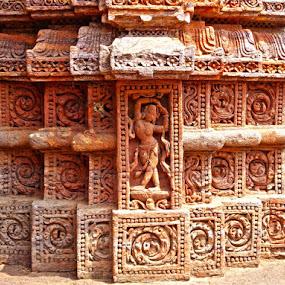 at Konark Sun Temple by Atreyee Sengupta - Buildings & Architecture Architectural Detail