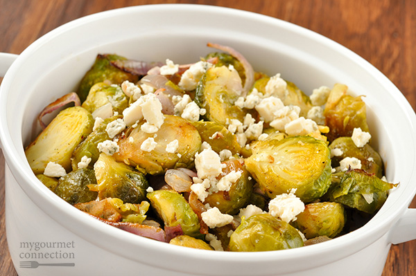 Roasted Brussels Sprouts with Blue Cheese Recipe