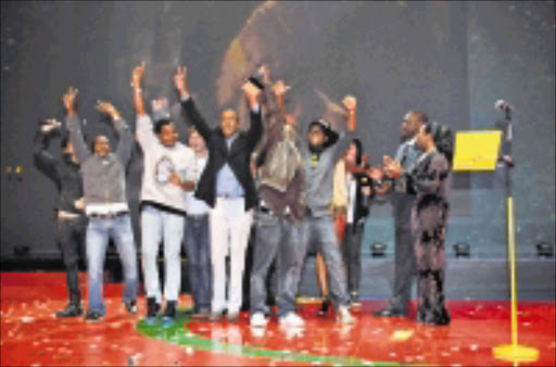 BLACK POWER: Creatives from Ogilvy Johannesburg after winning the TV Grand Prix award category at the 2009 Loeries Awards. Pic: Jurie Senekal. 05/10/2009. © Sowetan.