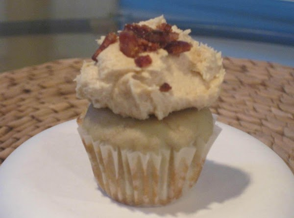 Set chopped bacon aside and make the simple frosting. In large bowl combine cream...
