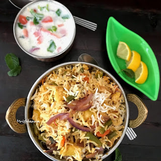 Vegetable Dum Biryani.