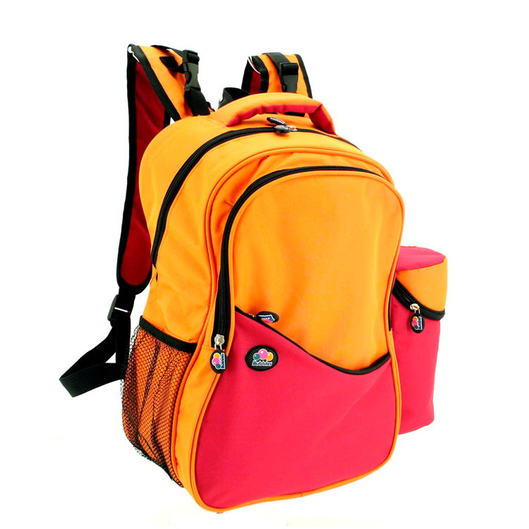 Bubbles Aiden Red/Orange Diaper Backpack by GREEN WHEEL INTERNATIONAL SDN BHD