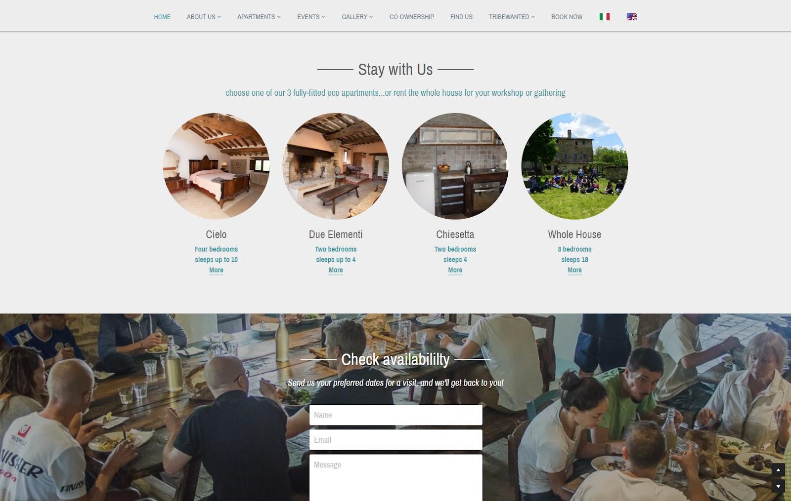 Tribewanted homepage