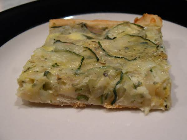 Zucchini And Cheese Squares (crescent Roll Crust)