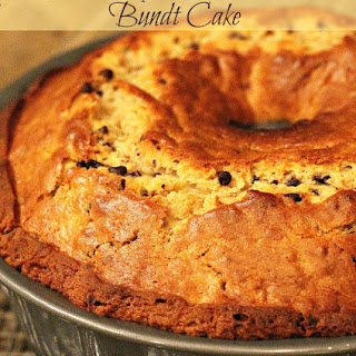 Chocolate Chip Peanut Butter Banana Bundt Cake.