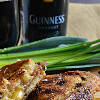 Guinness Irish Grilled Cheese Sandwich with Bacon Recipe