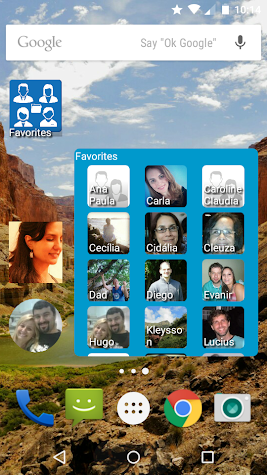 Contacts Widget Screenshot