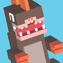 Blocky Jumping Run Avoid Shark icon
