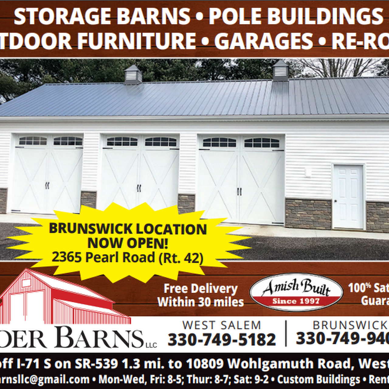 Yoder Barns Llc - Amish-owned company with all-Amish crews
