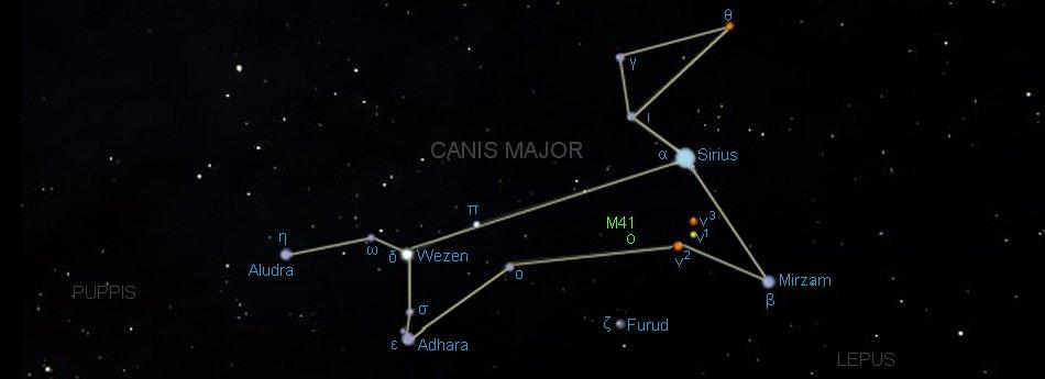 Canis Major Constellation | Star Map & Facts | Go Astronomy