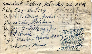 Photo: NavCAD Patrick Alonzo Tillery address at Corry field 1954