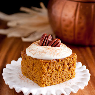 Pumpkin Bars with Fluffy Cream Cheese Frosting