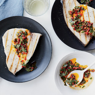 Grilled Swordfish with Cilantro-Chile Vinaigrette