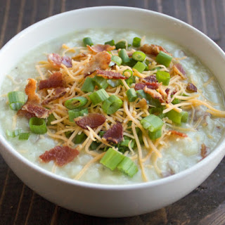 Lighter Loaded Baked Potato Soup