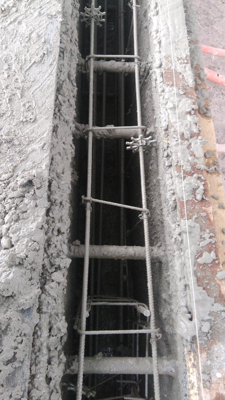 Tensores em elementos de concreto.