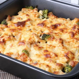 Healthy Chicken Vegetable Casserole.