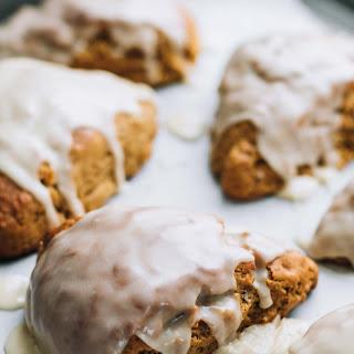 Maple Glazed Gingerbread Scones