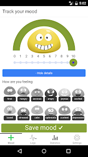 Happyo Mood Tracker - náhled