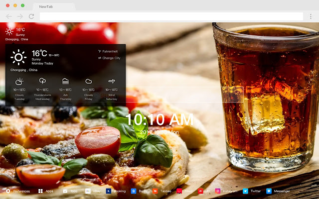 Pizza HD Wallpapers Foods New Tabs Themes