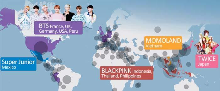 K-Pop World Map