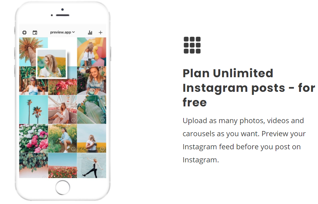 Preview instagram planner