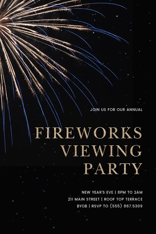 Fireworks Viewing Party - New Year's Template