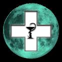Lunar Calendar. Health icon