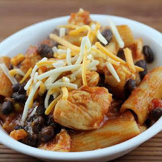 Healthy Southwestern Chicken and Pasta.