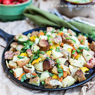 Oven Roasted Vegan Sausage and Potatoes