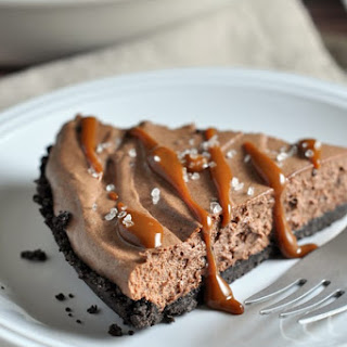 Chocolate Mousse Pie with Caramel Drizzle and Sea Salt Recipe