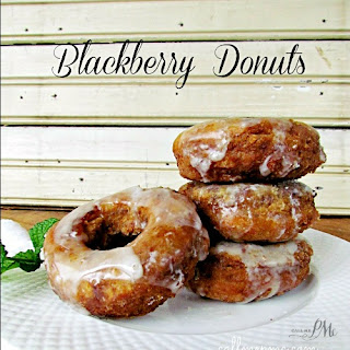 Blackberry Cake Donuts with Lemon Glaze