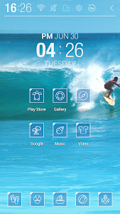 Surfing wave Atom Theme screenshot 1
