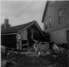 Photo: George Hough stands by the remains of his house. Photo taken by John P. Sheedy, submitted by Jack Sheedy.