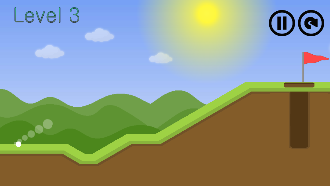 Golf 2D- screenshot