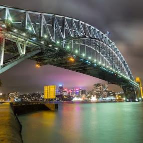 Sydney Harbour Bridge at night by Mikey Mackinven - Buildings & Architecture Bridges & Suspended Structures