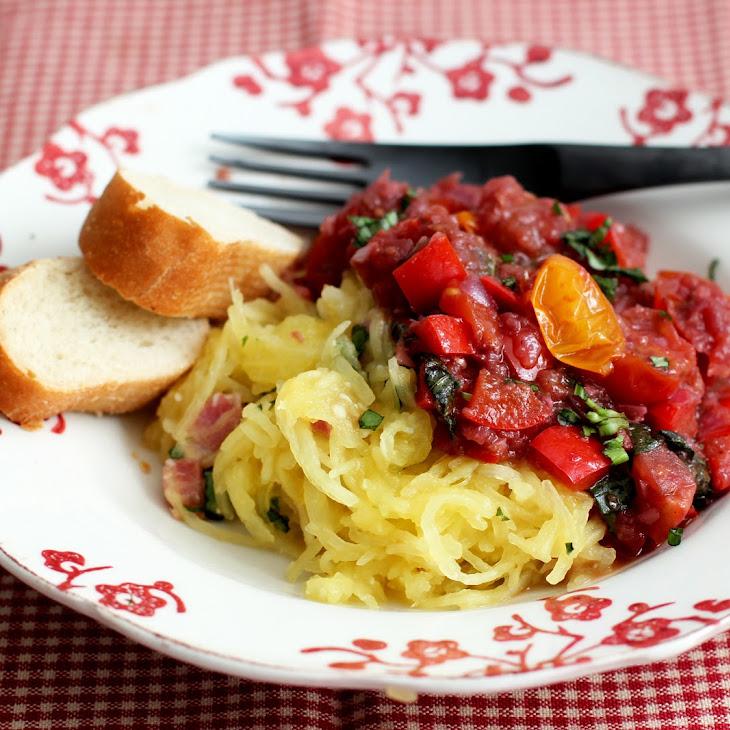 Spaghetti Squash with Pan Fried Cod