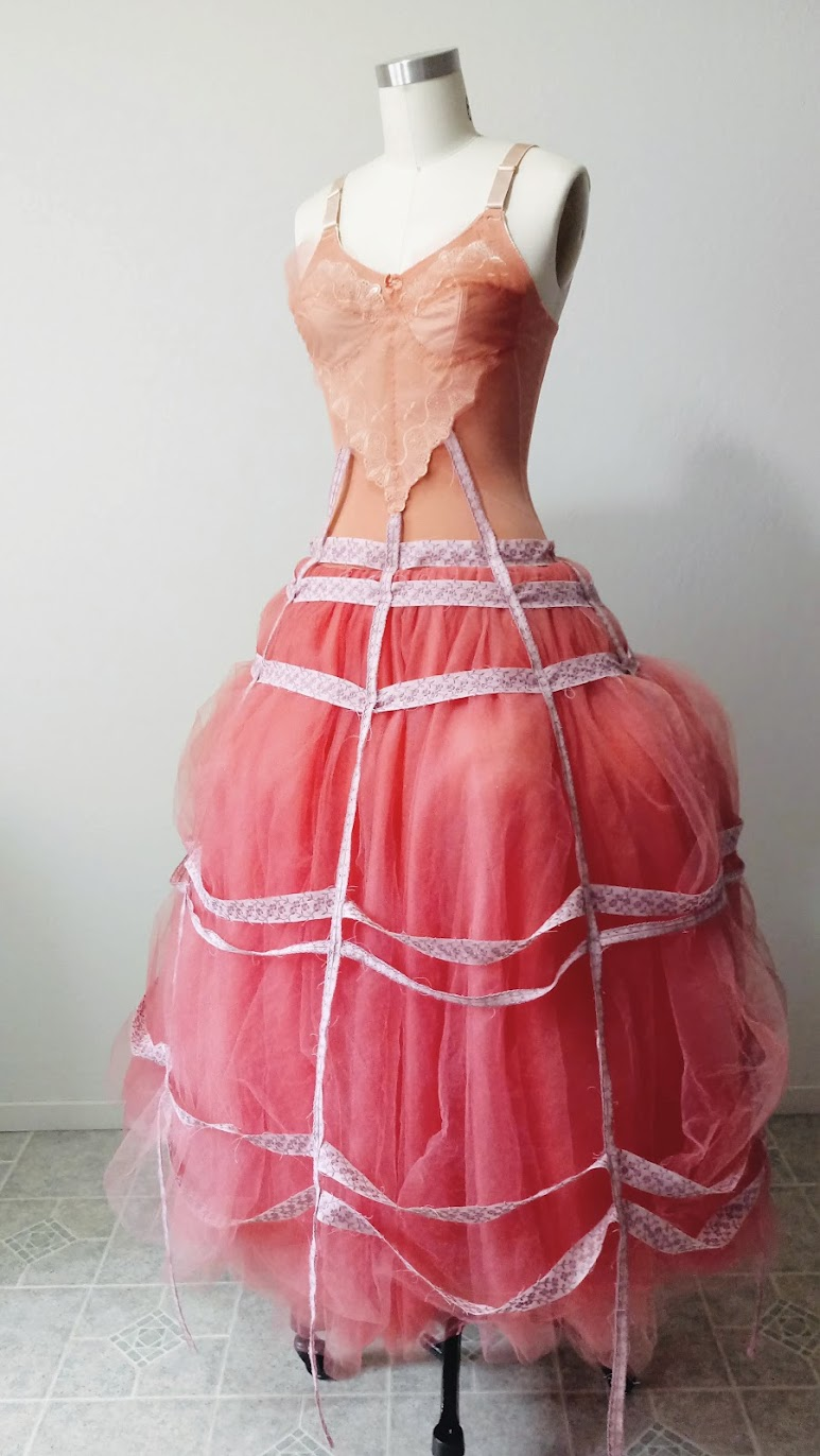 In-Progress: Bubblegum Dreaming Cage Dress - DIY Fashion Garment | fafafoom.com