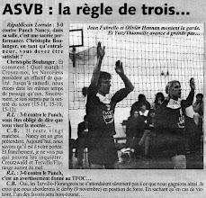 Photo: 29-10-96 R1M L'ASVB conserve la tête après sa victoire à Nancy 0-3