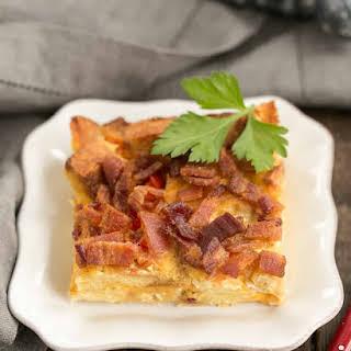 Bacon and Egg Strata.