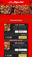 Screenshot of Pizza Hut Australia