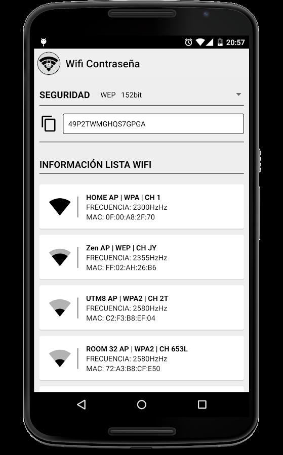 Wifi Contrase 209 A Aplicaciones De Android En Google Play