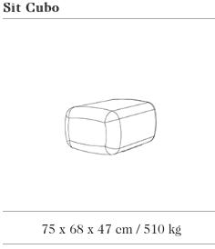 Technische tekening van de SIT Cubo uit de collectie van Escofet 1886
