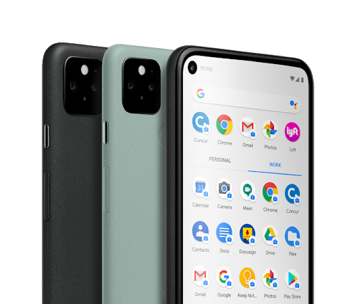 An image of a group Google Pixel phones.