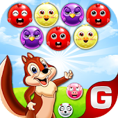 Squirrel Arcade Wild Nuts - Match 3 Bubble Shooter