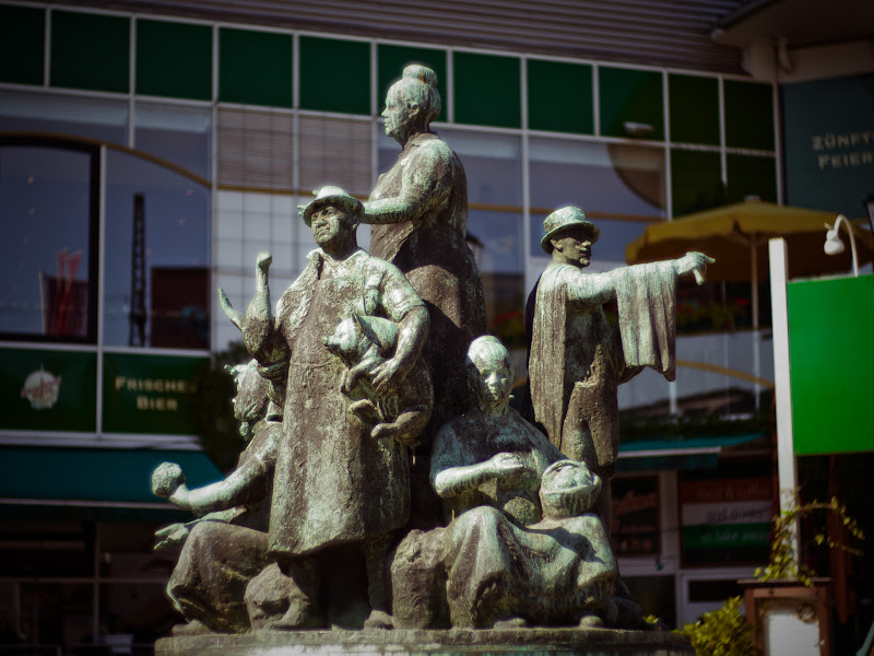Photo: A statue between the hotel and the venue